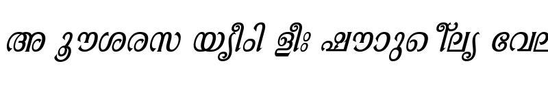 Preview of ML-TTAathira Italic
