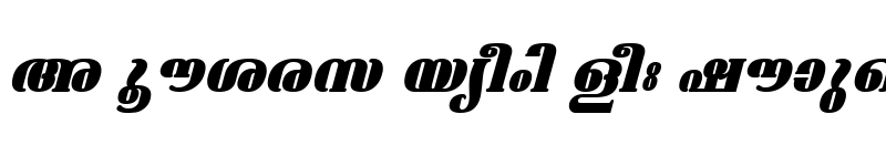 Preview of ML-TTAshtamudiExBold Italic