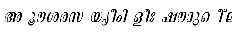 Preview of ML-TTAswathi Italic
