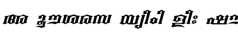 Preview of ML-TTBeckalBold Italic