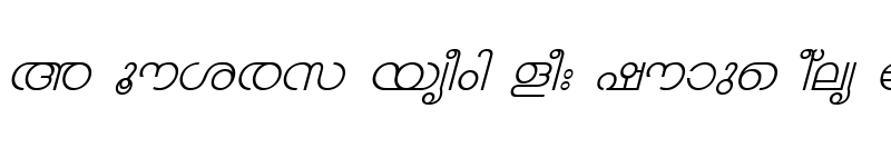 Preview of ML-TTChandrika Italic
