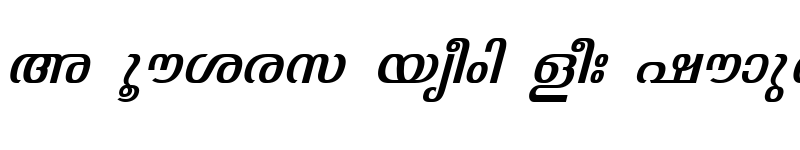 Preview of ML-TTJyothy Italic