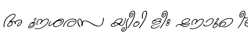 Preview of ML-TTKanika Italic