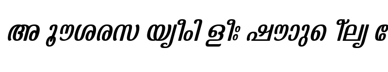 Preview of ML-TTKaumudi Italic