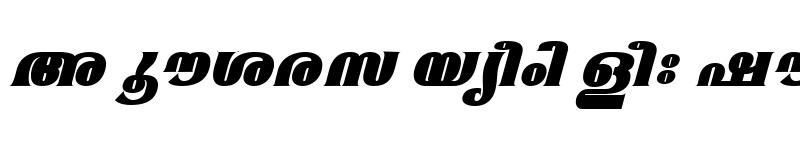 Preview of ML-TTMangalaExBold Italic