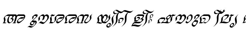 Preview of ML-TTNalini Italic