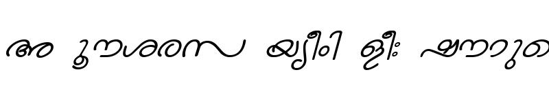 Preview of ML-TTNandini Italic
