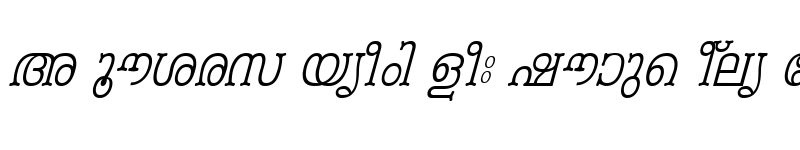 Preview of ML-TTPeriyar Italic