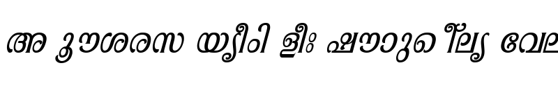 Preview of ML-TTPooram Italic