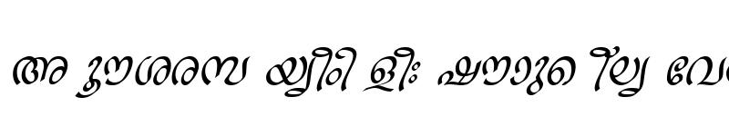 Preview of ML-TTRavivarma Italic