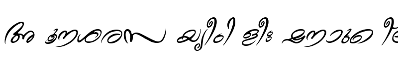 Preview of ML-TTTheyyam Italic