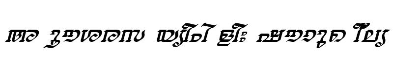 Preview of ML-TTThiruvathira Italic