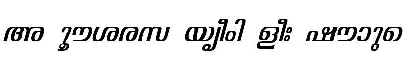 Preview of ML-TTVisakham Italic