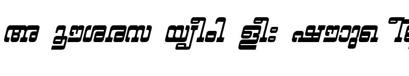Preview of ML-TTYashasri BoldItalic
